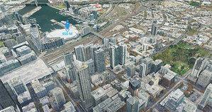 Zagłębiaj się w chmurze punktów w mieszanej rzeczywistości <br /> Chmura 350 mln punktów dla Melbourne wyświetlona w mieszanej rzeczywistości (fot. Arvizio)