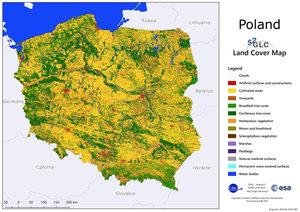 Nowa mapa pokrycia terenu w Europie opracowana przez CBK PAN