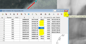 Usługa wyznaczania wysokości punktu z NMT w C-Geo