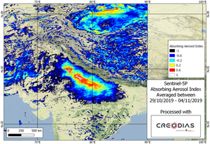 Zanieczyszczenie powietrza w New Delhi okiem Sentinela