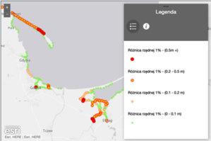 Mapy powodziowe dla wschodniego wybrzeża zaktualizowane <br /> Porównanie rzędnych powodzi z I i II cyklu planistycznego