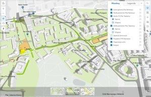 Mapy na 28. finał WOŚP <br /> Plac Teatralny i Plac Bankowy 3D