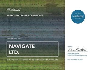 NaviGate pierwszym Certyfikowanym Ośrodkiem Szkoleniowym MicaSense