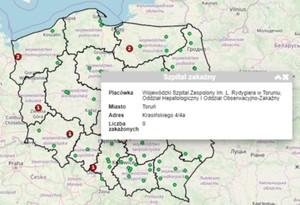 Mapa rozprzestrzeniania się koronawirusa w Polsce [aktualizacja] <br /> Mapa GIAP