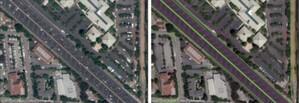 Toyota ma sprawdzony pomysł na przystępne i dokładne mapy dróg <br /> Zdjęcie satelitarne przed i po obróbce