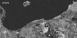 Kolejna nowość ICEYE - interferometria w 18-dniowym cyklu <br /> Porównanie obydwu obrazów SAR wskazuje, gdzie nastąpiła zmiana w wysokości powierzchni Ziemi