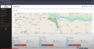 Nowa europejska technologia lokalizuje zakłócenia GNSS w czasie rzeczywistym <br /> Interfejs użytkownika systemu