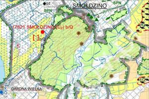 Mapa Geośrodowiskowa Polski już w internecie <br /> Fragment arkusza 10 - Smołdzino (Gardna Wielka), plansza A