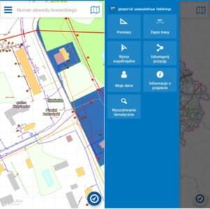 Odświeżona wersja aplikacji mobilnej Geoportalu Województwa Łódzkiego