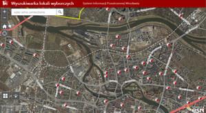 Mapa i wyszukiwarka lokali wyborczych we wrocławskim geoportalu