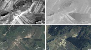 Nowoczesna teledetekcja wsparciem dla monitoringu środowiska <br /> Zdjęcia obrazujące zmiany w zadrzewieniu i zakrzewieniu na jednym z analizowanych obszarów (dane źró