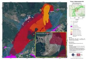 Nowy system wspierania dronów pomógł w walce z pożarem Biebrzańskiego PN <br /> Mapa BPN opracowana przy użyciu CreoScan