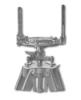 <b class=pic_title>Kątomierz</b> <br /> <br /> <b class=pic_description>Urządzenie pośrednie pomiędzy węgielnicą, pozwalającą na pomiar kąta 45° lub 90°, a teodolitem, umożliwiającym pomiar dowolnego kąta. Model produkowany na początku XX w. przez firmę G. Gerlach z Warszawy posiadał dwa pionowe przezierniki zamiast lunety i był wyposażony w busolę.</b> <br /> <br />