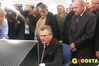 <b class=pic_title>Prezydent Aleksander Kwaśniewski. W samym centrum Centrum</b> <br /> <br /> <b class=pic_author>fot.  Marek Pudło</b><br /> <br />