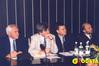 <b class=pic_title>Dr Kazimierz Bujakowski, główny geodeta kraju (drugi z lewej) oraz Krzysztof Mączewski, wiceprezes GUGiK (drugi z prawej)</b> <br /> <br /> <b class=pic_author>fot.  Jerzy Przywara</b><br /> <br />