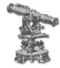 <b class=pic_title>Tachimetr redukcyjny</b> <br /> <br /> <b class=pic_description>Tachimetr firmy Otto Fennel z Kassel, początek XX wieku. W instrumencie zastosowano rozwiązanie, polegające na umieszczeniu w lunecie szklanej płytki z naniesionym na niej diagramem. Prawą część obrazu w lunecie wypełniał widok łaty (terenu), lewą - diagram z krzywymi (odległości, przewyższenia).</b> <br /> <br />