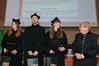 <b class=pic_title>Inauguracja roku akademickiego na Wydziale Geoinżynierii, Górnictwa i Geologii Politechniki Wrocławskiej</b> <br /> <br /> <b class=pic_description>Nagrodę ufundowaną przez prof. Monikę Hardygórę, prezes KGHM Cuprum ? Centrum Badawczo-Rozwojowe otrzymali: Katarzyna Masłowska, Mateusz Dudzik oraz Rozalia Sikorska</b> <br /> <br /> <b class=pic_author>fot.  Krzysztof Mazur</b><br /> <br />