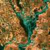 """<b class=pic_title>Rolnicze krajobrazy stanu Tennessee oraz meandry rzeki Mississippi. Trzecie miejsce w plebiscycie """"Earth as Art"""".</b> <br /> <br /> <b class=pic_author>fot.  NASA's Goddard Space Flight Center/USGS</b><br /> <br />"""