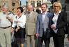 <b class=pic_title>Jolanta Orlińska - główny geodeta kraju (pierwsza z prawej) - wygłosiła referat nt. wdrażania INSPIRE, a Janusz Walo (2. z prawej) - o kształceniu geodetów. Dalej od prawej stoją: Janusz Łopaciuk i Alicja Kulka</b> <br /> <br /> <b class=pic_author>fot.  Barbara Stefańska</b><br /> <br />