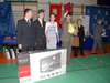 <b class=pic_title>Druga drużyna olimpiady reprezentująca ZSP nr 13 w Łodzi w składzie: Bartłomiej Cybulski, Przemysław Ściborek i Sandra Ociesielska wraz z opiekunem</b> <br /> <br /> <b class=pic_author>fot.  Anna Wardziak</b><br /> <br />
