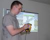 <b class=pic_title>Piotr Kaczmarek z Esri Polska demonstruje zbieranie danych przestrzennych za pomocą mobilnych aplikacji Esri</b> <br /> <br /> <b class=pic_author>fot.  Jerzy Królikowski</b><br /> <br />