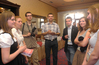 <b class=pic_title>Na dniach geodezji nie zabrakło studentów, na zdjęciu młodzi geodeci z Krakowa </b> <br /> <br /> <b class=pic_author>fot.  Barbara Stefańska</b><br /> <br />