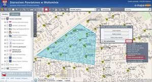 Pobieranie wykazu punktów osnowy w serwisach e-mapa.net
