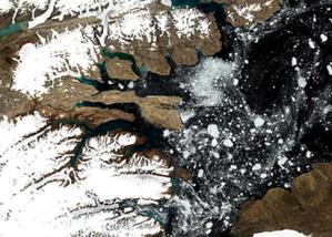Najpiękniejsze zdjęcia Ziemi z platformy CREODIAS <br /> I miejsce: Adam Wasilewski, obszar na granicy Kanady z Grenlandią
