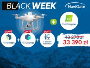 Black Week. Zestaw DJI Phantom 4 RTK z Pix4Dmapper + Pakiet Pix4D + szkolenie online