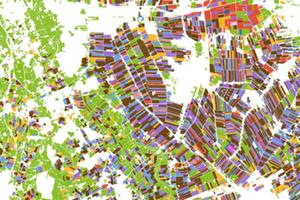 Następny Powszechny Spis Rolny ze wsparciem danych satelitarnych? <br /> Fragment mapy typów upraw (fot. ESA)