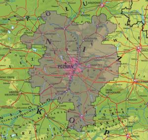 Poznańska metropolia zamawia ortofotomapę i dane 3D <br /> Zasięg opracowania (SIWZ)