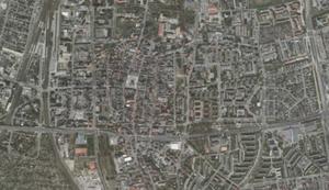 Leszno zamawia rozbudowę systemu do prowadzenia PZGiK oraz dane 3D <br /> Leszno na ortofotomapie (Geoportal.gov.pl)