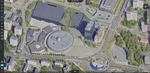 Katowice na zdjęciach lotniczych i modelach 3D <br /> Lotnicze zdjęcie ukośne