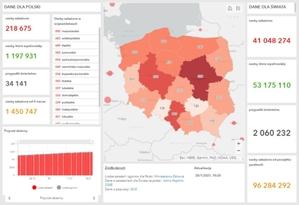 Rząd udostępnia nowe mapy zakażeń COVID-19