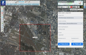 Nowa funkcja pobierania danych rastrowych z Geoportalu
