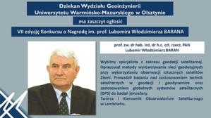 Konkurs o nagrodę im. prof. Barana po raz siódmy