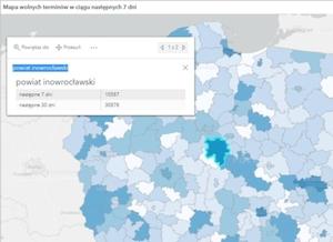 Więcej danych o szczepieniach na rządowej mapie