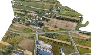 Kamień milowy krajowego pilotażu BIM <br /> Fragment modelu 3D dla terenu inwestycji opracowany przez firmę SkySnap/dronywbudownictwie.pl
