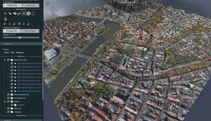 Lepsze przeglądanie chmur punktów w Geoportalu <br /> Centrum Krakowa