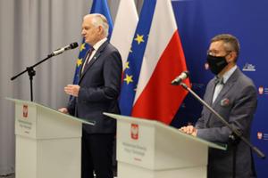 Przemysł kosmiczny w Polityce Przemysłowej Polski <br /> Wicepremier Jarosław Gowin i wiceminister Robert Tomanek (fot. MRPiT)