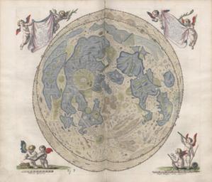 Mapy na krajowej liście programu UNESCO Pamięć Świata <br /> J. Heweliusz, Selenographia. Mapa librującego księżyca