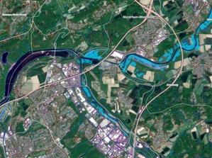 Powódź w Niemczech na zdjęciach satelitarnych <br /> Fragment mapy Copernicus EMS
