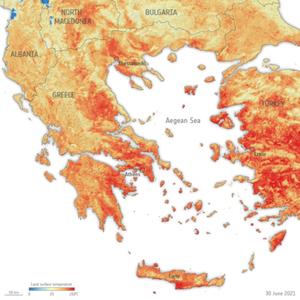 Dane satelitarne pomagają chronić przez kataklizmami <br /> Dane o temperaturze dostarczone przez satelitę Sentinel-3