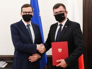 Piotr Uściński nowym wiceministrem odpowiedzialnym za geodezję i kartografię <br /> fot. KPRM/Twitter