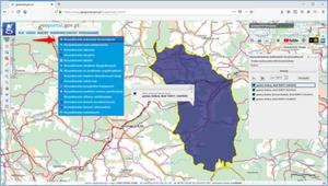 Wyszukiwanie jednostek terytorialnych w Geoportalu