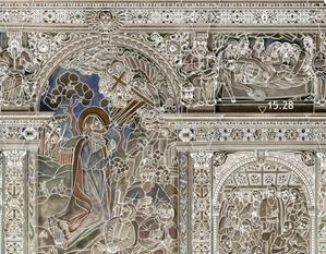 Model gęsty od rzeźb i sztukaterii, czyli trójwymiarowa digitalizacja XVII-wiecznej kaplicy <br /> Fragment dokumentacji rysunkowej wnętrza kaplicy rodziny Boimów we Lwowie na podkładzie z ortofotoplanu