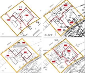Jak trzecia władza zawraca z krętej geodezyjnej ściezki <br /> Fot. Przykładowe projekty podziału z 11 branych pod uwagę przez sąd