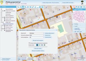 Coś dla każdego. Polska.geoportal2.pl wkracza na rynek krajowych geoportali <br /> Usługa lokalizacji adresu w geoportalu firmy Geobid