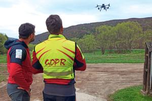 Dronem na ratunek, czyli o automatycznej detekcji ludzi na zdjęciach lotniczych <br /> Szkolenie Grupy Bieszczadzkiej GOPR z wykorzystania SARUAV, maj 2021 r. (fot. Wojciech Pawul)