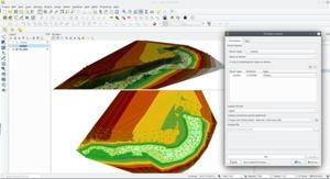 Jeszcze więcej funkcji 3D w QGIS 3.16 <br /> Generowanie modelu TIN